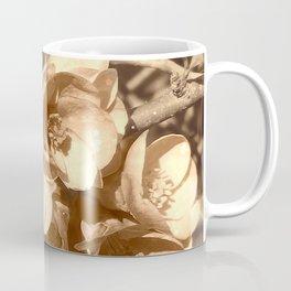 Jolies fleurs de mars en sépia Coffee Mug