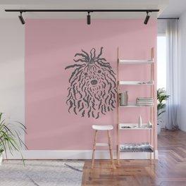 Puli (Pink and Gray) Wall Mural