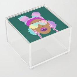 Top Puffs Girl #naturalhair #rainbowhair #shades #lipstick #blackunicorn #curlygirl Acrylic Box