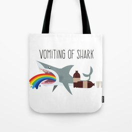 Vomiting of shark Tote Bag