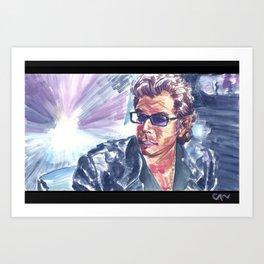 "Jurassic Park : Jeff Goldblum/Ian Malcom : ""Chaotician 4 / 4"" Art Print"