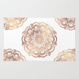 Mandala Rose-Gold Shine Rug