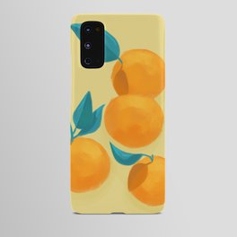 Oranges on yellow Android Case