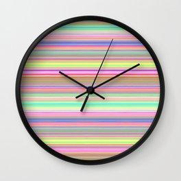 Bright Pastel Stripes Wall Clock