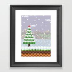 Green Hill Christmas Framed Art Print