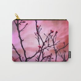 Dark Branches Red Buds And Fiery Sky Carry-All Pouch