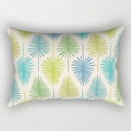 Retro Tropical Nature Print Rectangular Pillow