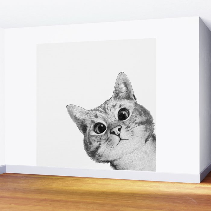 sneaky cat Wall Mural