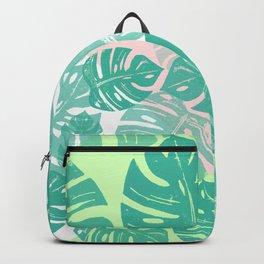 Linocut Monstera Tricolori Backpack