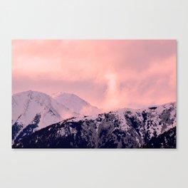 Kenai Mts Bathed in Serenity Rose - II Canvas Print