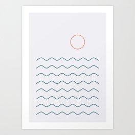 La Mer (Jour) Seascape Art Print
