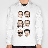 cage Hoodies featuring Cage by Matthew Brazier Illustration