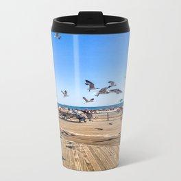 Seagulls of Coney Island Travel Mug