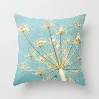 umbrella Throw Pillows featuring Umbrella by Cassia Beck