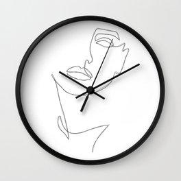 Triple Face Line Wall Clock