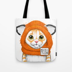 kitten in fox cap Tote Bag