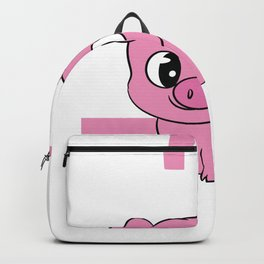 """A Piggy Tee For Pig Lovers """"I'd Smoke That"""" T-shirt Design Grilling Grilled Oink Piglet Pig Hog Oink Backpack"""