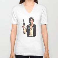 han solo V-neck T-shirts featuring Han / Solo by Earl of Grey