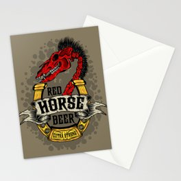 Red Horse Beer Stationery Cards