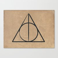 deathly hallows Canvas Prints featuring Deathly Hallows by gummybearmassacre