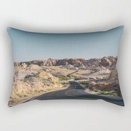Windy Desert Road Rectangular Pillow
