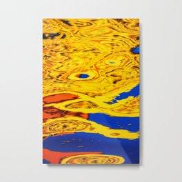 Abstract Reflection Metal Print