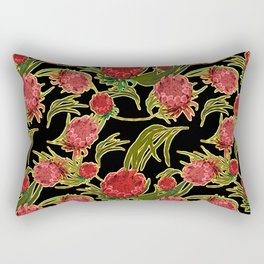 Eucalyptus Leaves and Protea Flowers Rectangular Pillow