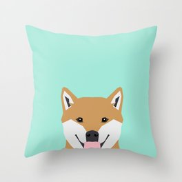 Cassidy - Shiba Inu gifts for dog lovers and cute Shiba Inu phone case for Shiba Inu owner gifts Throw Pillow