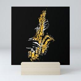 Saxophone Art Jazz Mini Art Print