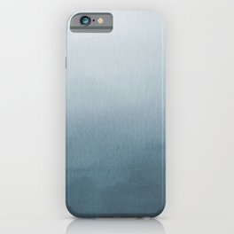 Behr Blueprint Blue S470-5 Abstract Watercolor Ombre Blend - Gradient iPhone Case
