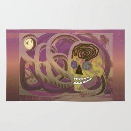 Skull in a Tubular Landscape Rug