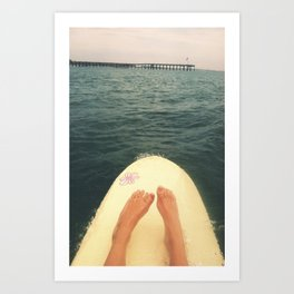 Surfer's View Art Print