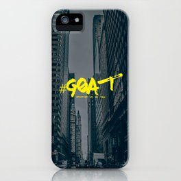 G.O.A.T (Greatest Of All Time) Urban Font iPhone Case