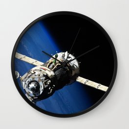 The Soyuz TMA-19 spacecraft departs the International Space Station on Nov 25 2010 Wall Clock
