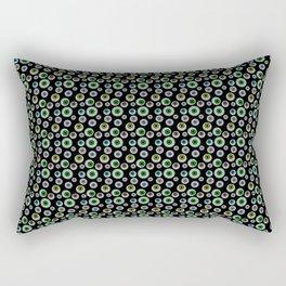 I Only Have Eyes for You (on Designer Black Background)  Rectangular Pillow