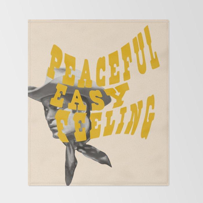 Peaceful Easy Feeling Throw Blanket