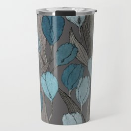 Tulip field on cacao brown Travel Mug
