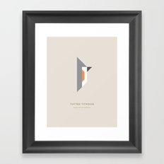 Tufted Titmouse Framed Art Print