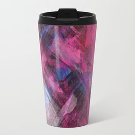 Red Dawn Abstract Travel Mug