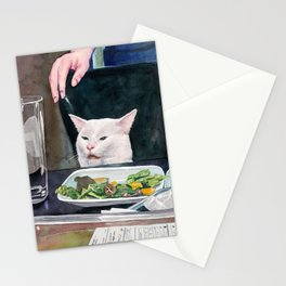 Woman yelling at cat Meme #16 Stationery Cards