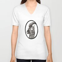 xenomorph V-neck T-shirts featuring Fancy Mr. Xenomorph by peter glanting