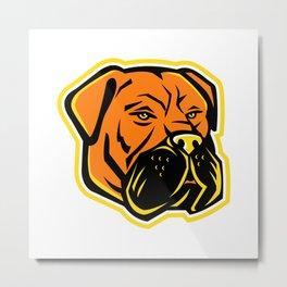 Bullmastiff Dog Mascot Metal Print
