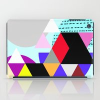 decal iPad Cases featuring geometric pattern by haroulita