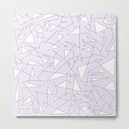 lighest lilac black and white big doodle Metal Print