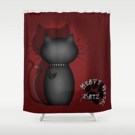 Heavy Metal Katz Shower Curtain