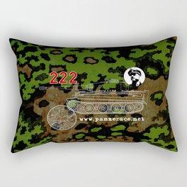 Michael Wittmann Panzer Ace 222 Villers Bocage Camo Rectangular Pillow