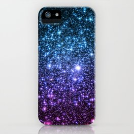Galaxy Stars : Teal Violet Pink Ombre iPhone Case