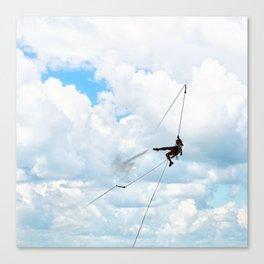Clouds climbing Canvas Print