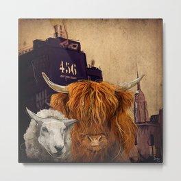 Sheep Cow 123 Metal Print