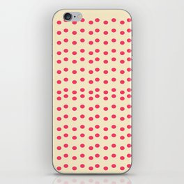 Sweet pink vintage dots on yellow iPhone Skin